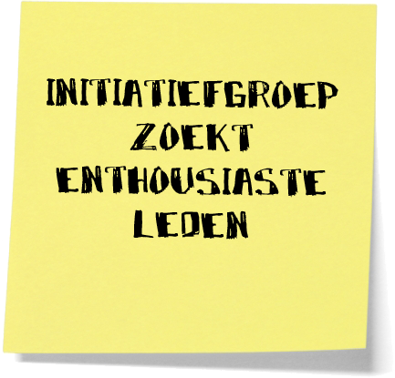 initiatiefgroep lede post-it
