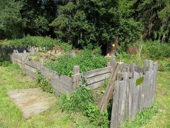 Compostbak met 4 vakken