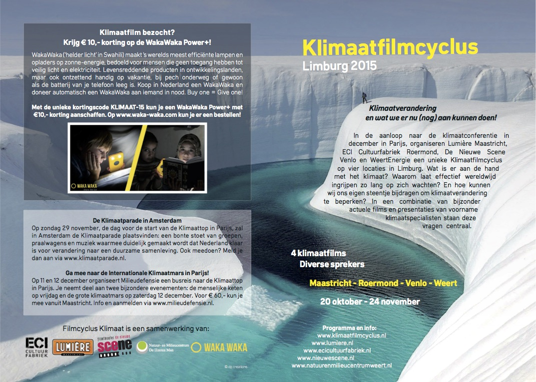 Flyer Filmcyclus Klimaat